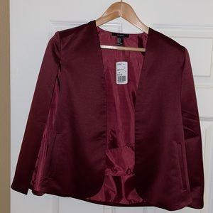 Wine Cape Blazer Coat